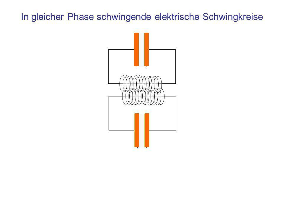 In gleicher Phase schwingende elektrische Schwingkreise