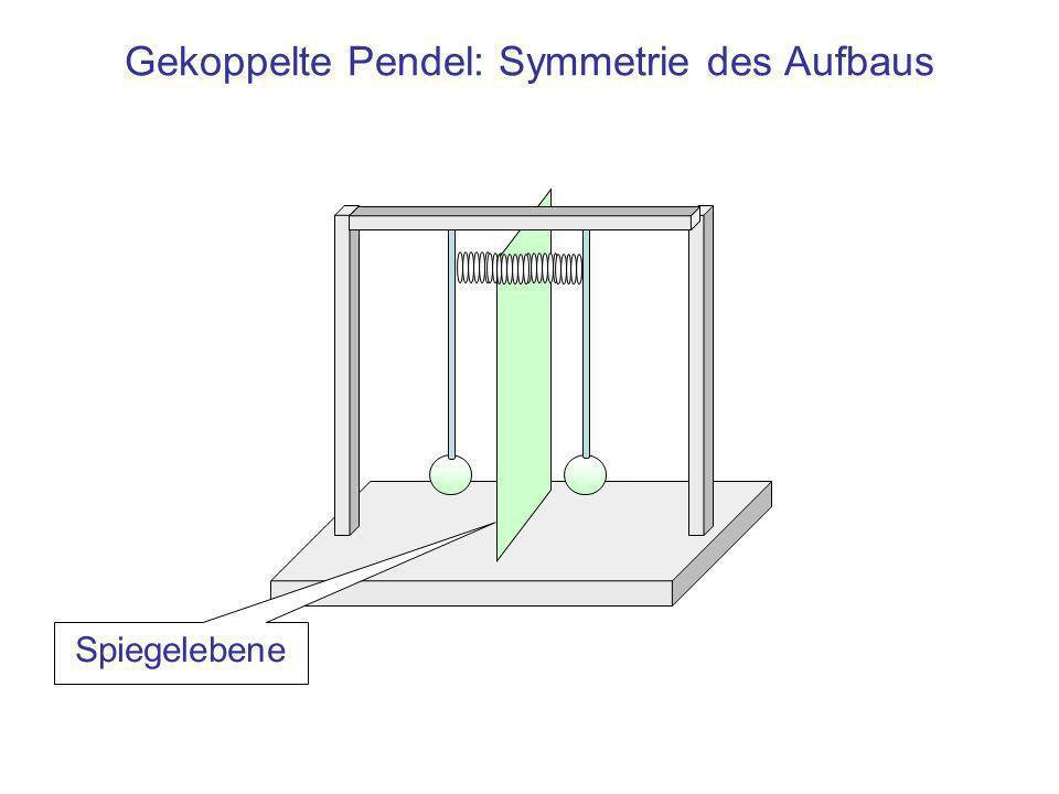 Gekoppelte Pendel: Symmetrie des Aufbaus Spiegelebene