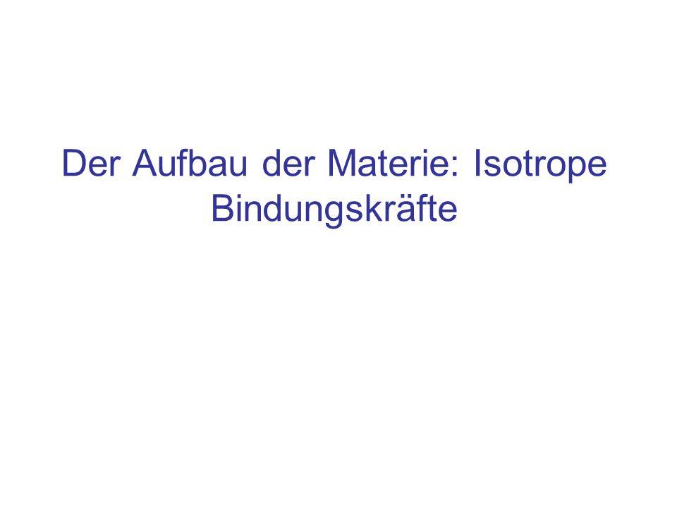 Der Aufbau der Materie: Isotrope Bindungskräfte