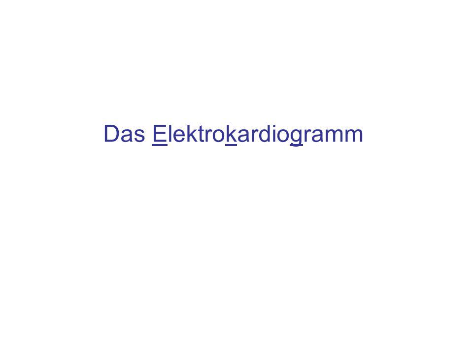 Inhalt Elektrische Erregung des Herzens Variation des Dipolmoments des Herzens Ableitungen im EKG nach Eindhoven