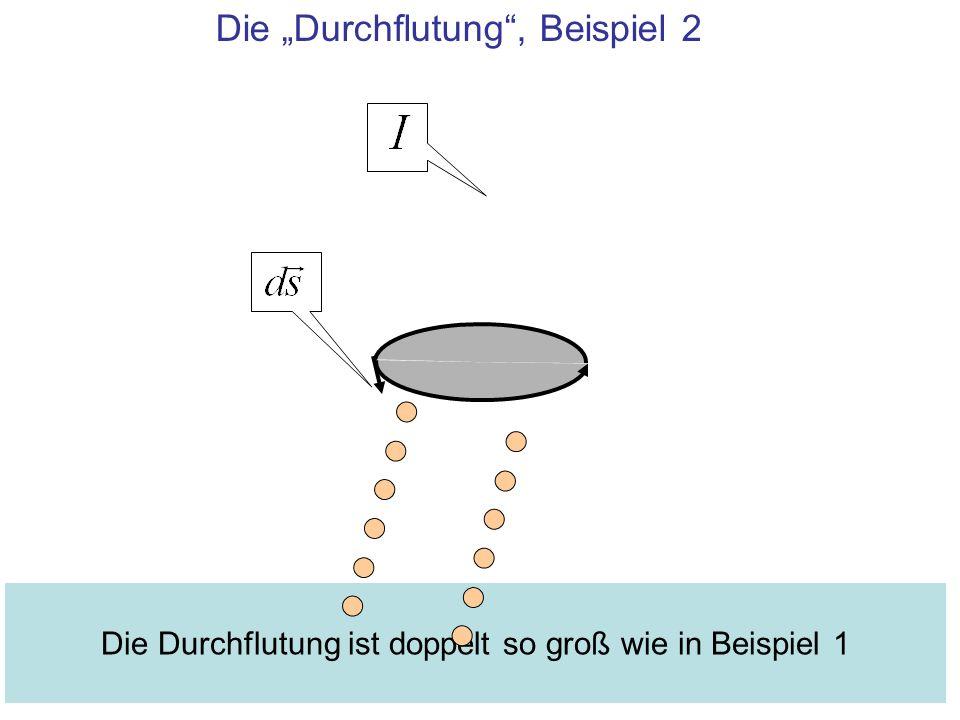 Die Durchflutung, Beispiel 2 Die Durchflutung ist doppelt so groß wie in Beispiel 1