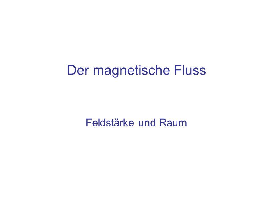 Der magnetische Fluss Feldstärke und Raum