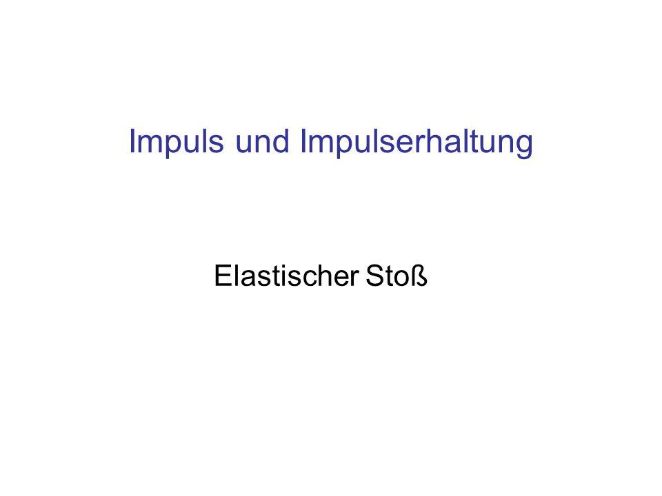 Elastischer Stoß Impuls und Impulserhaltung