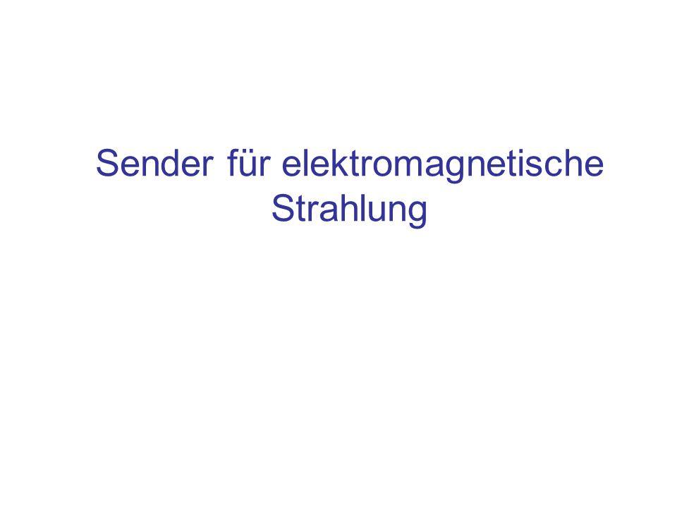 Inhalt Sender für elektromagnetische Strahlung und ihre Frequenzbereiche