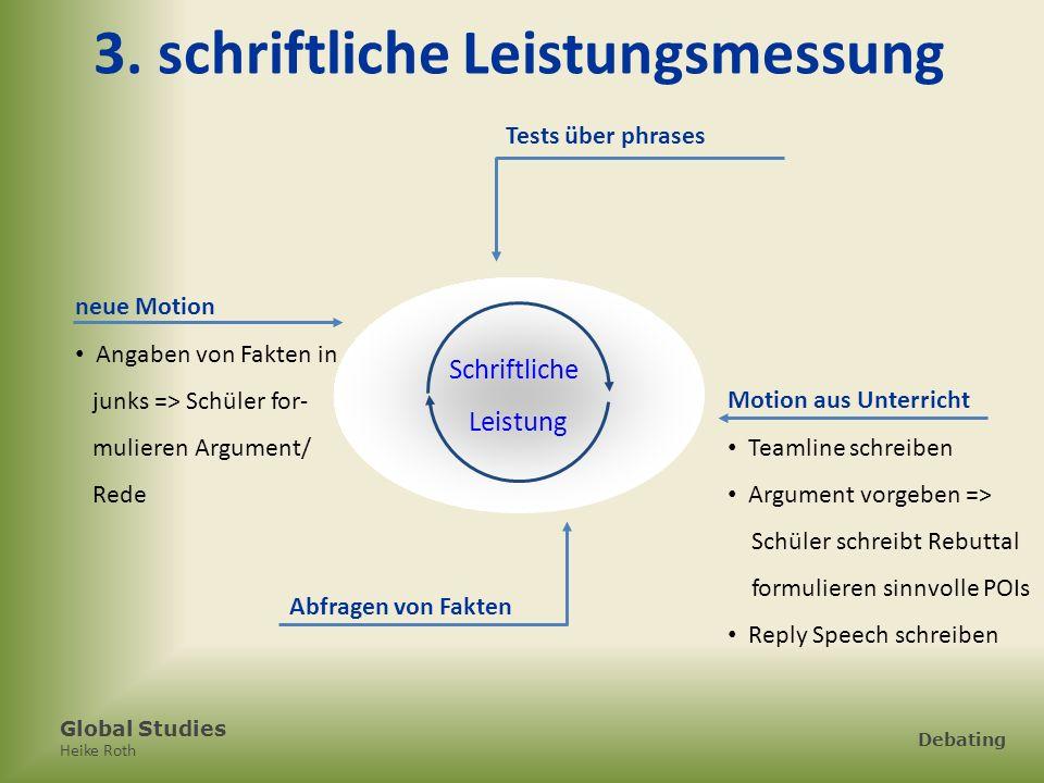 Heike Roth Debating 3. schriftliche Leistungsmessung Schriftliche Leistung Tests über phrases neue Motion Angaben von Fakten in junks => Schüler for-