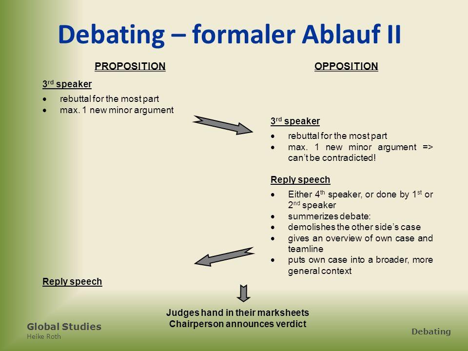 Global Studies Heike Roth Debating 2.