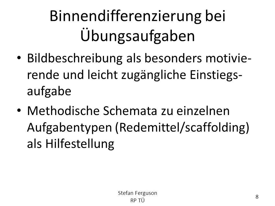 Bekanntmachung von Prüfungs- formaten – Erst in Klasse 10 Stefan Ferguson RP TÜ 19