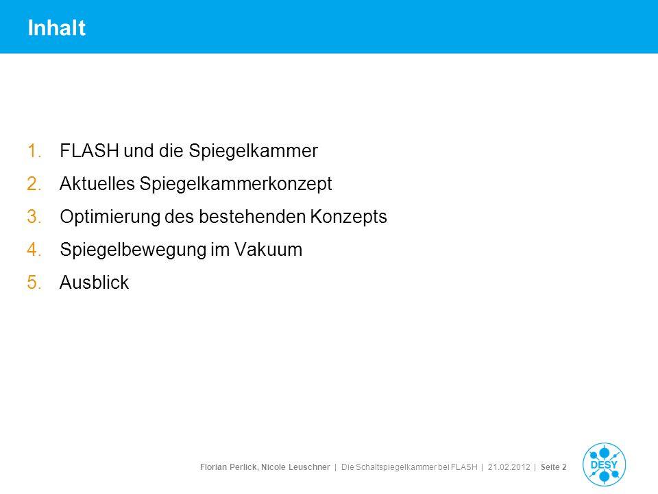 Florian Perlick, Nicole Leuschner   Die Schaltspiegelkammer bei FLASH   21.02.2012   Seite 3 1.