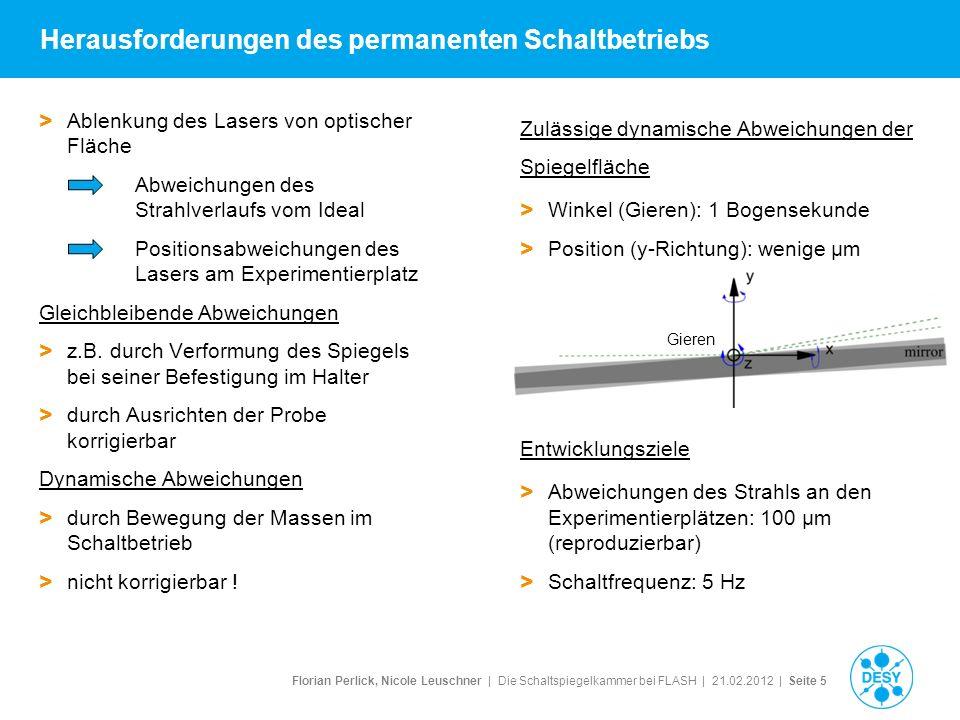 Florian Perlick, Nicole Leuschner   Die Schaltspiegelkammer bei FLASH   21.02.2012   Seite 6 2.