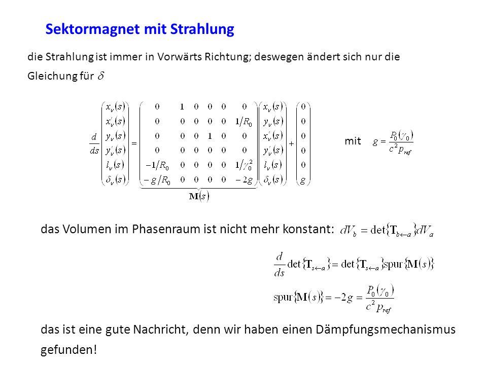 die Strahlung ist immer in Vorwärts Richtung; deswegen ändert sich nur die Gleichung für mit das Volumen im Phasenraum ist nicht mehr konstant: das is