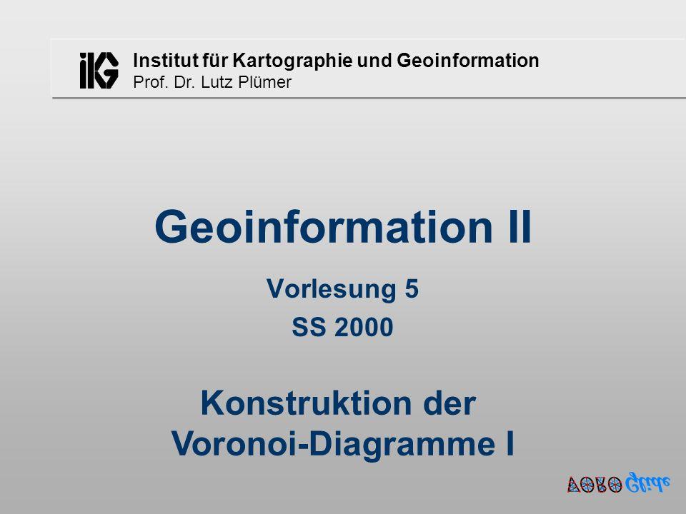 Lutz Plümer - Geoinformation - 6.Semester - SS 2001 - Vorlesung 551 O(n) * O(n) = O(n 2 ) .