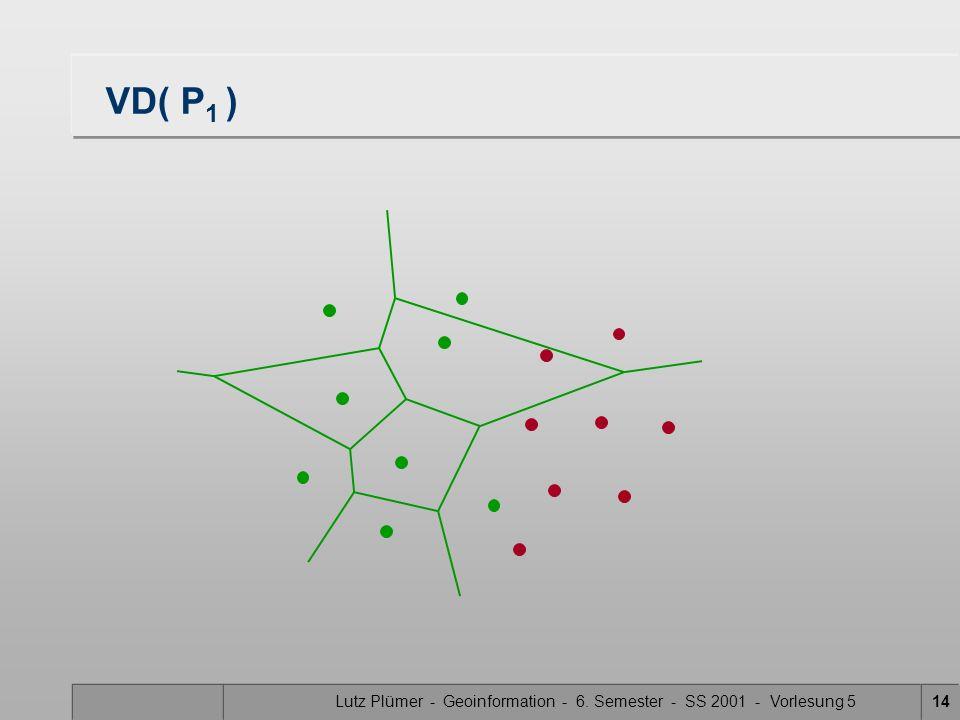 Lutz Plümer - Geoinformation - 6. Semester - SS 2001 - Vorlesung 513 VD( P 2 )