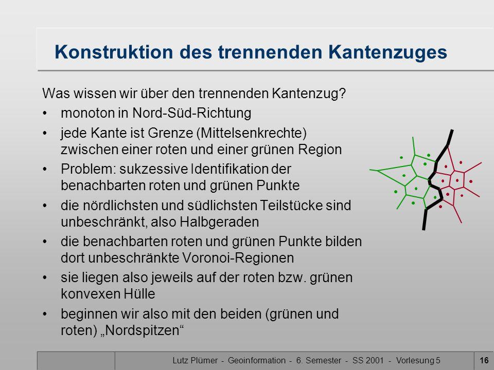 Lutz Plümer - Geoinformation - 6. Semester - SS 2001 - Vorlesung 515 Merge