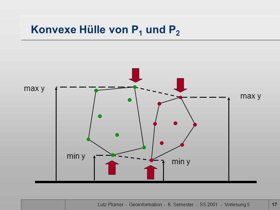 Lutz Plümer - Geoinformation - 6. Semester - SS 2001 - Vorlesung 516 Konstruktion des trennenden Kantenzuges Was wissen wir über den trennenden Kanten