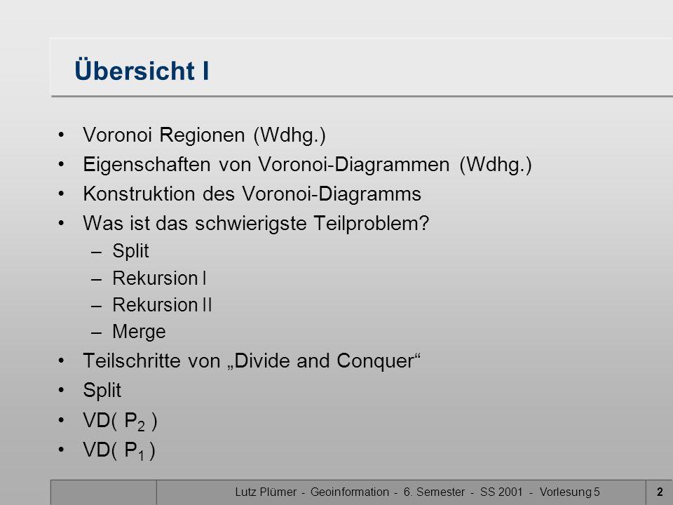 Lutz Plümer - Geoinformation - 6. Semester - SS 2001 - Vorlesung 542 Vereinigung