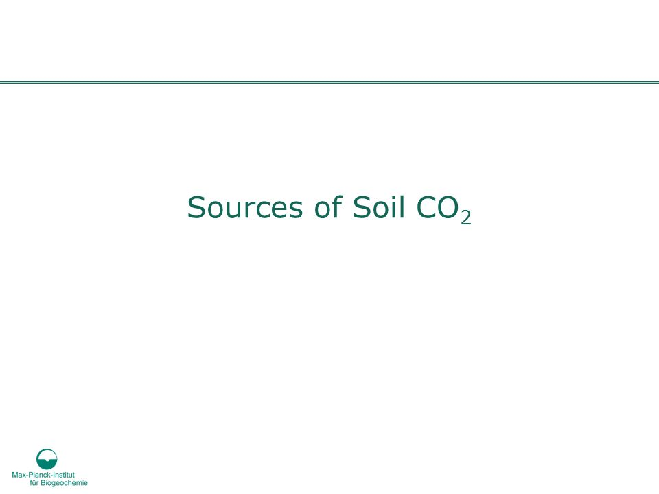 Sources of Soil CO 2