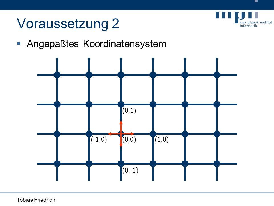 Tobias Friedrich (1,0) (0,1) (0,-1) (0,0)(-1,0) Angepaßtes Koordinatensystem Voraussetzung 2