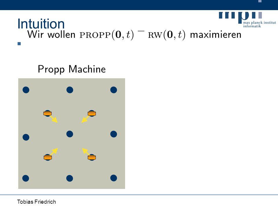 Tobias Friedrich Intuition Propp Machine W i rwo ll en propp ( 0 ; t ) ¡ rw ( 0 ; t ) max i m i eren