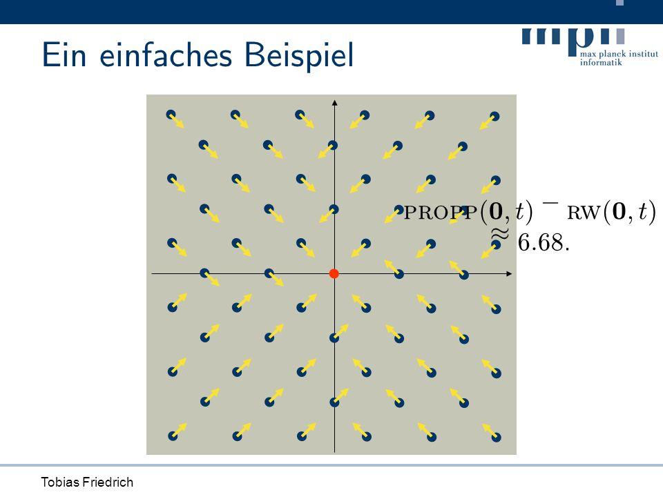 Tobias Friedrich Ein einfaches Beispiel propp ( 0 ; t ) ¡ rw ( 0 ; t ) ¼ 6 : 68.