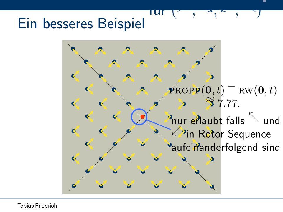 Tobias Friedrich Ein besseres Beispiel propp ( 0 ; t ) ¡ rw ( 0 ; t ) ¼ 7 : 77.