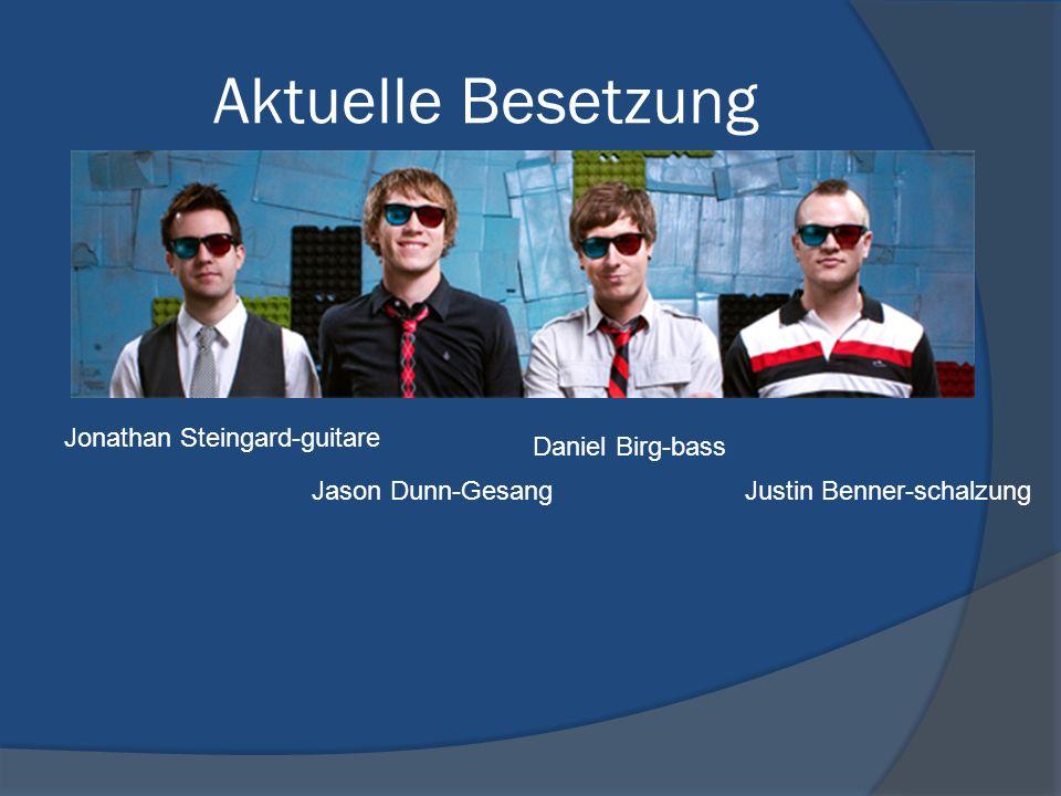 Aktuelle Besetzung Daniel Birg-bass Jason Dunn-Gesang Jonathan Steingard-guitare Justin Benner-schalzung