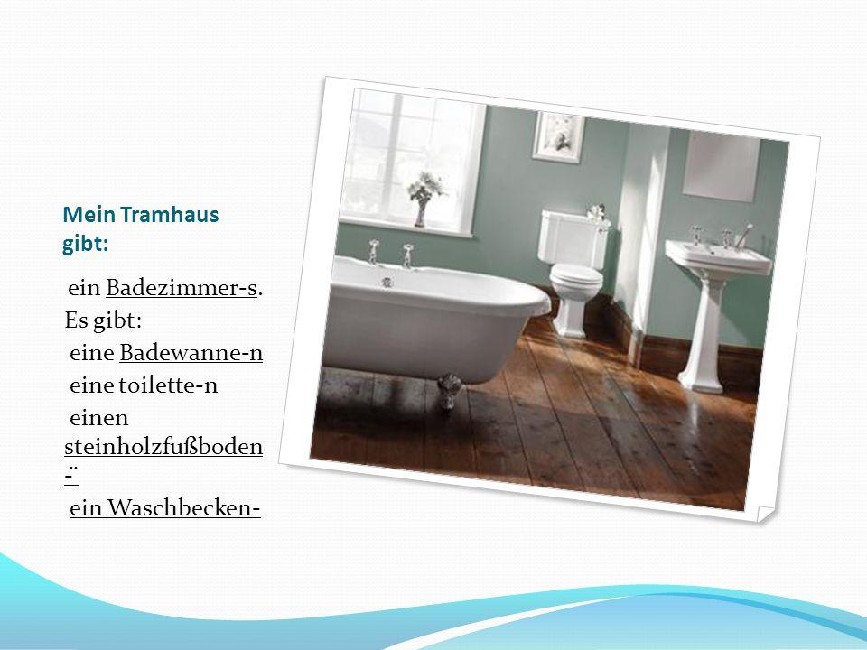 Mein Tramhaus gibt: ein Badezimmer-s.
