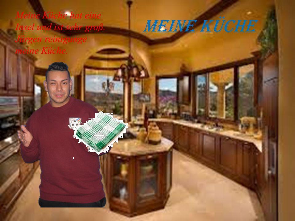 Meine Küche Meine Küche hat eine Insel und ist sehr groß. Jürgen reinigunge meine Küche.