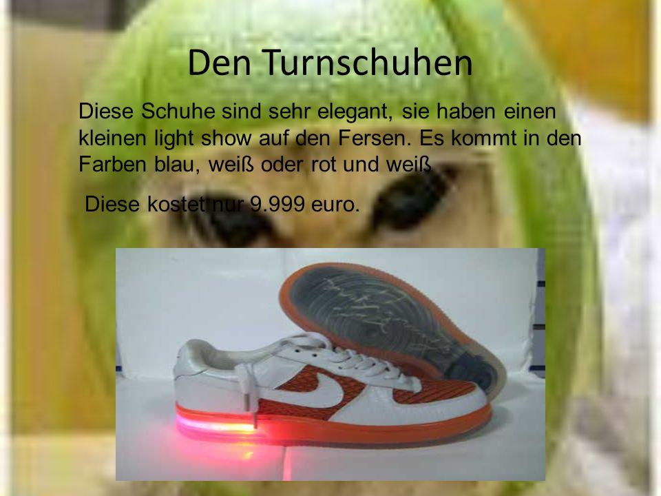 Den Turnschuhen Diese Schuhe sind sehr elegant, sie haben einen kleinen light show auf den Fersen.