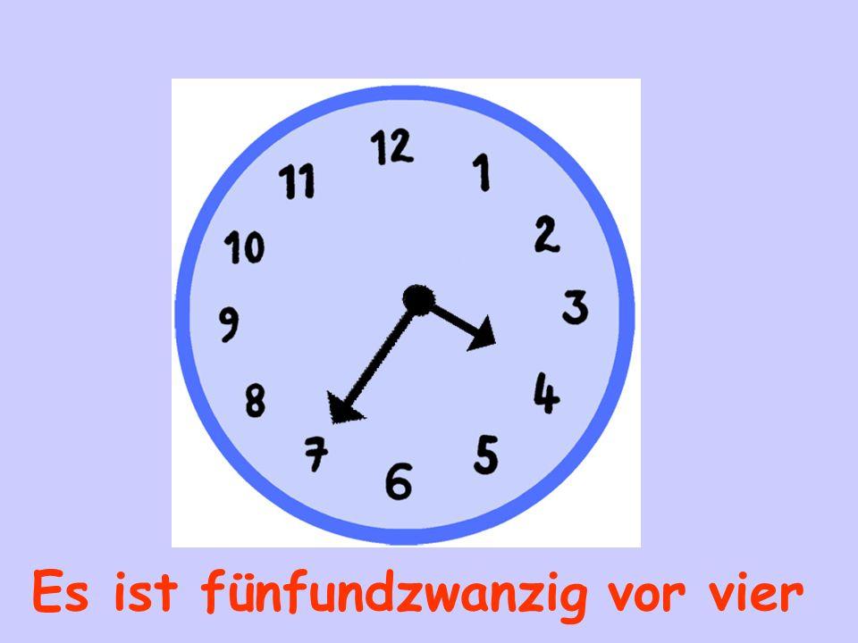 Es ist fünf (Minuten) vor fünf