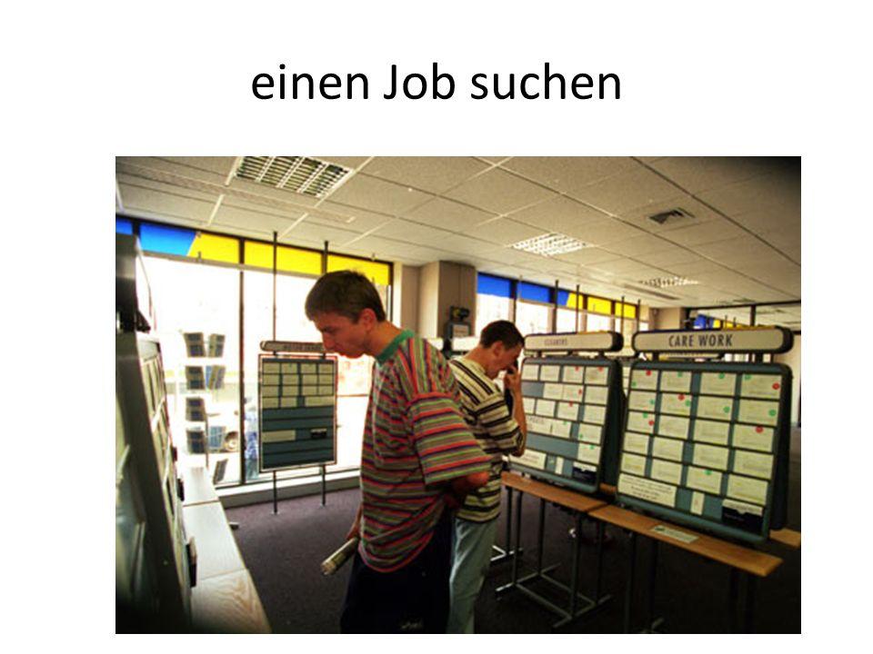 einen Job suchen
