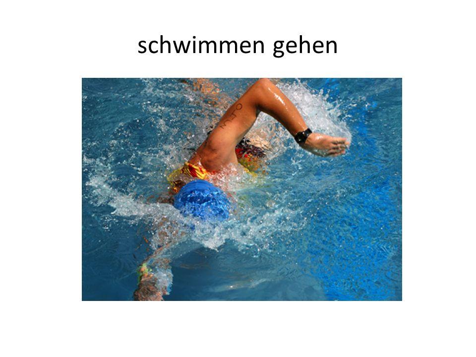 schwimmen gehen