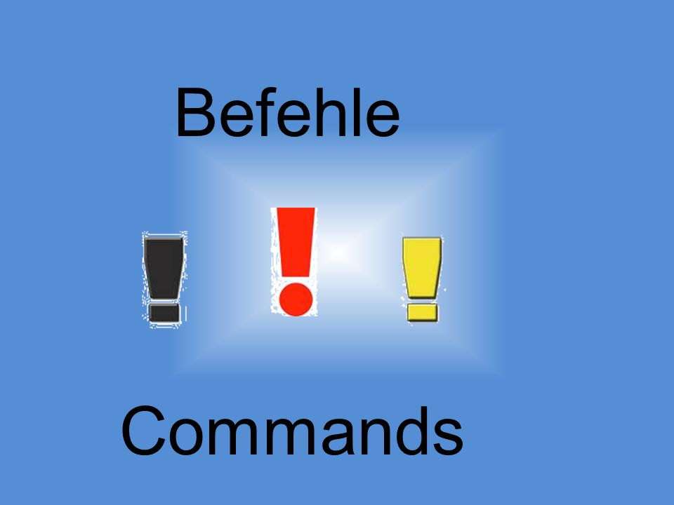 Lets form a Lets command.1. Conjugate the verb for wir.