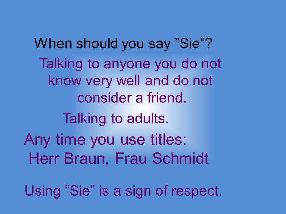 Lets form an du command.1. Conjugate the verb for du.