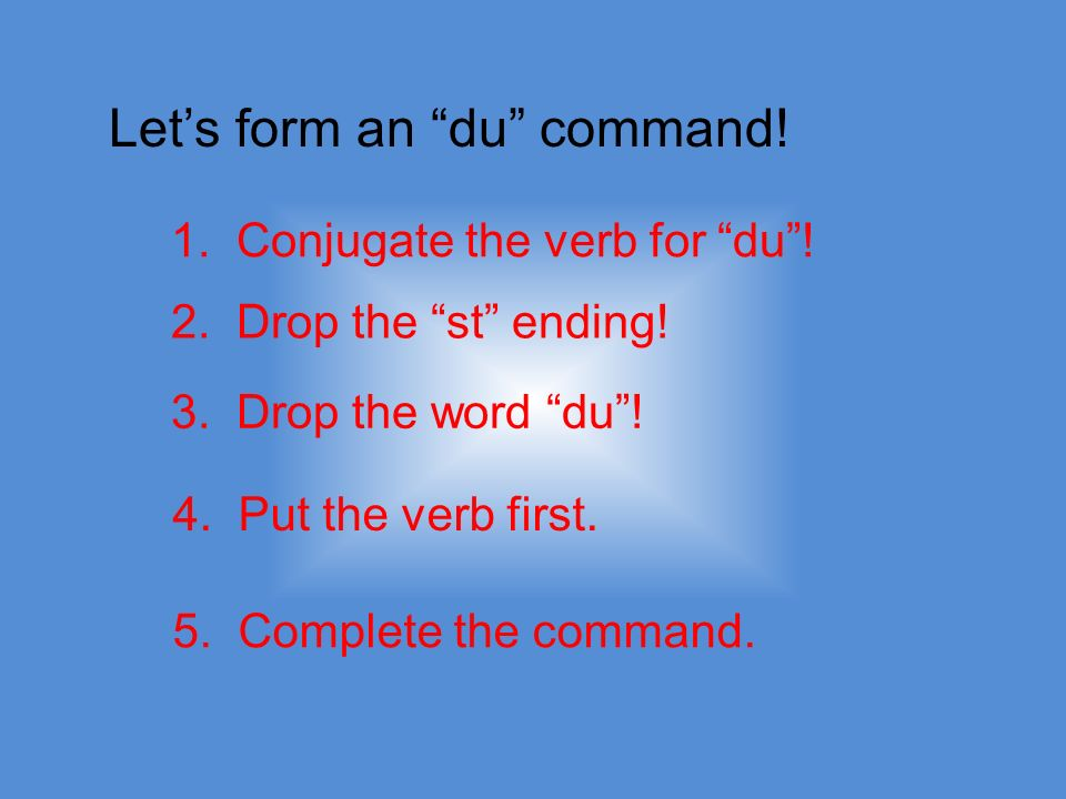 Can you give a command and include yourself? YES!