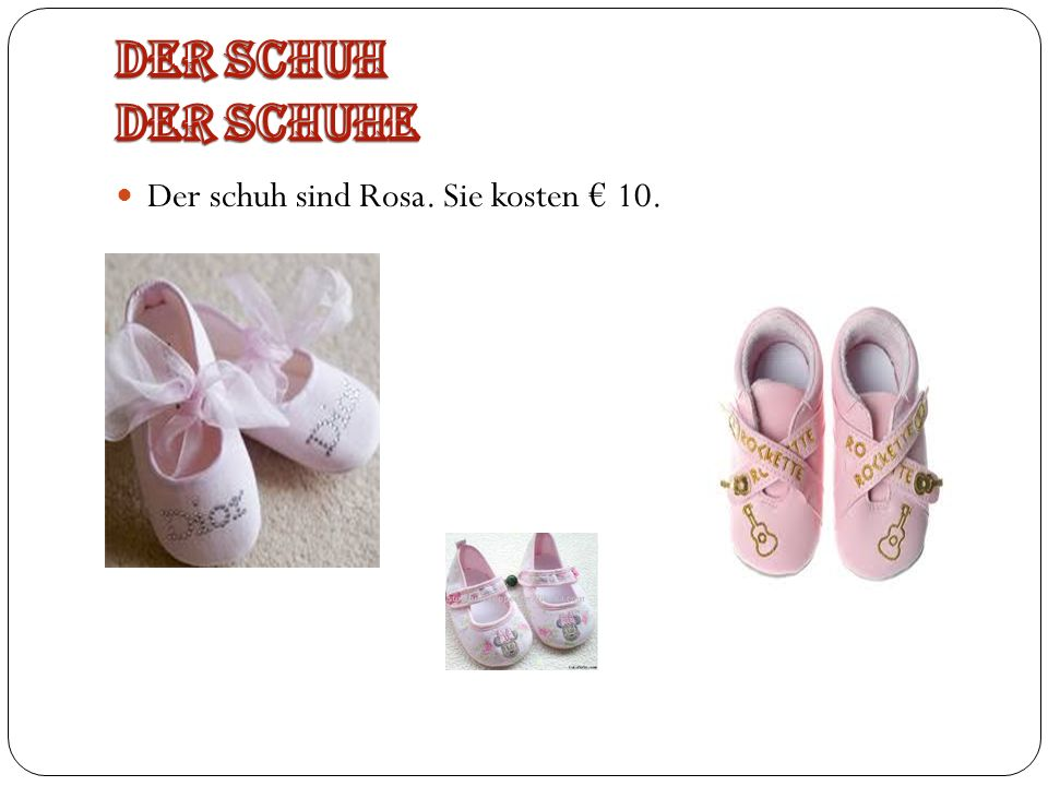 Die Sandalen ist Rosa und Purpur. Sie kosten 20.