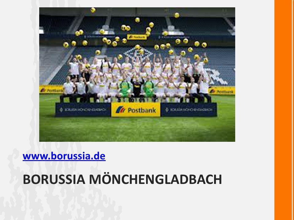 BORUSSIA MÖNCHENGLADBACH www.borussia.de