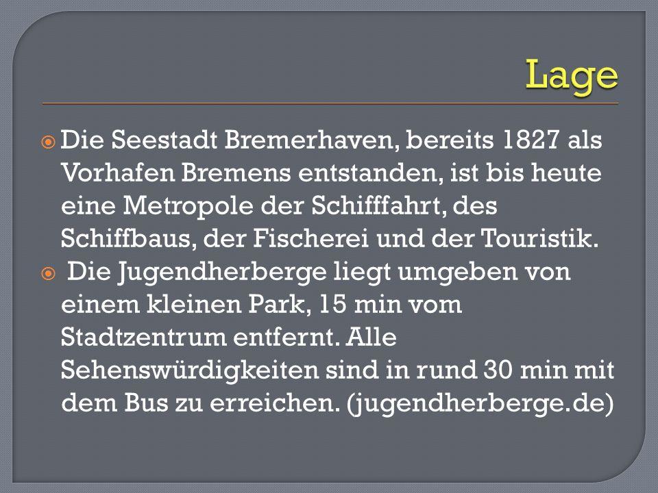 Die Seestadt Bremerhaven, bereits 1827 als Vorhafen Bremens entstanden, ist bis heute eine Metropole der Schifffahrt, des Schiffbaus, der Fischerei un
