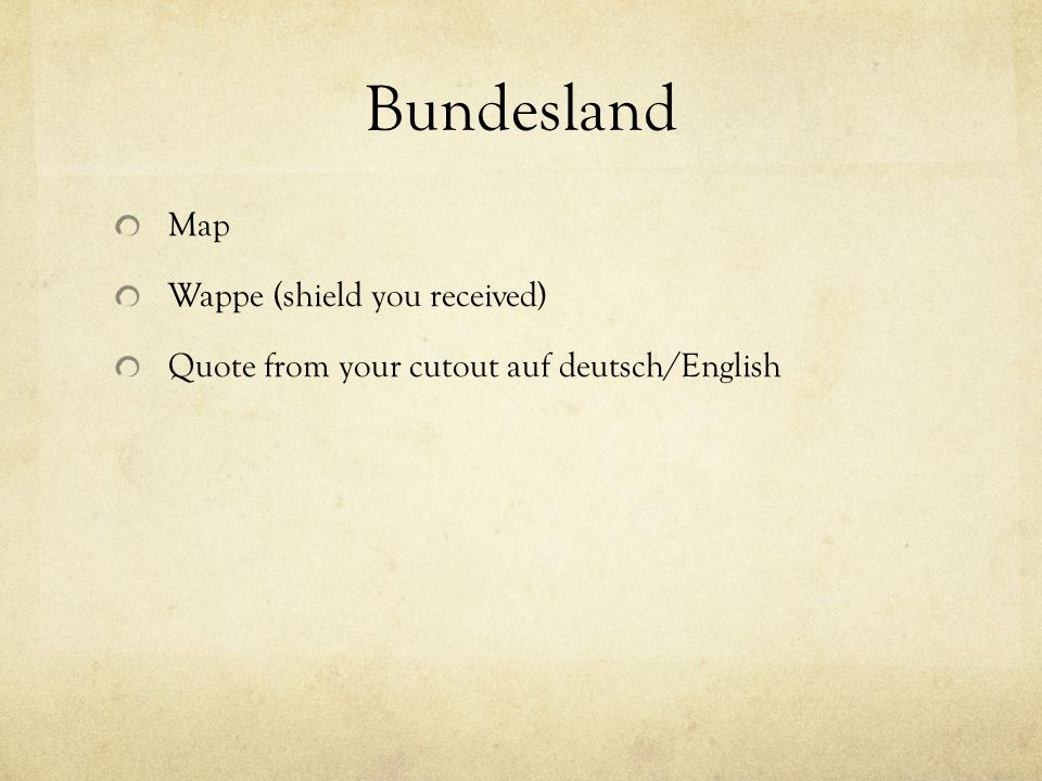 Bundesland Map Wappe (shield you received) Quote from your cutout auf deutsch/English