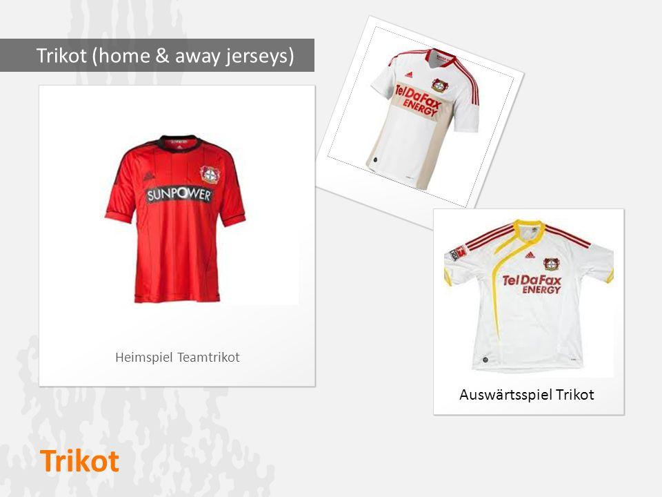 Trikot Heimspiel Teamtrikot Trikot (home & away jerseys) Auswärtsspiel Trikot