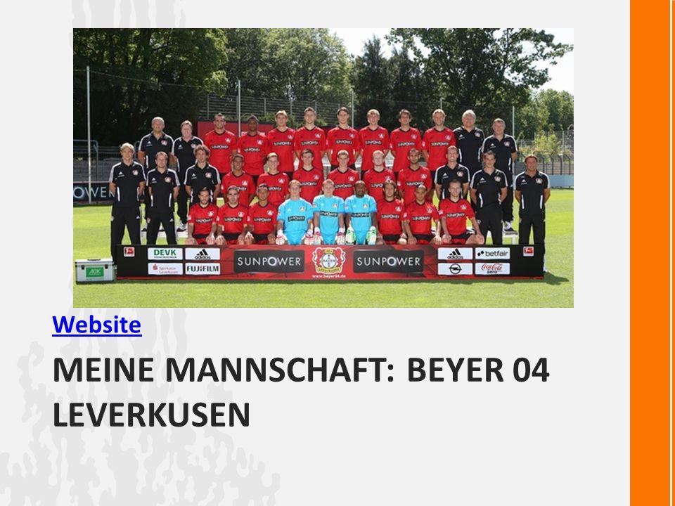 MEINE MANNSCHAFT: BEYER 04 LEVERKUSEN Website