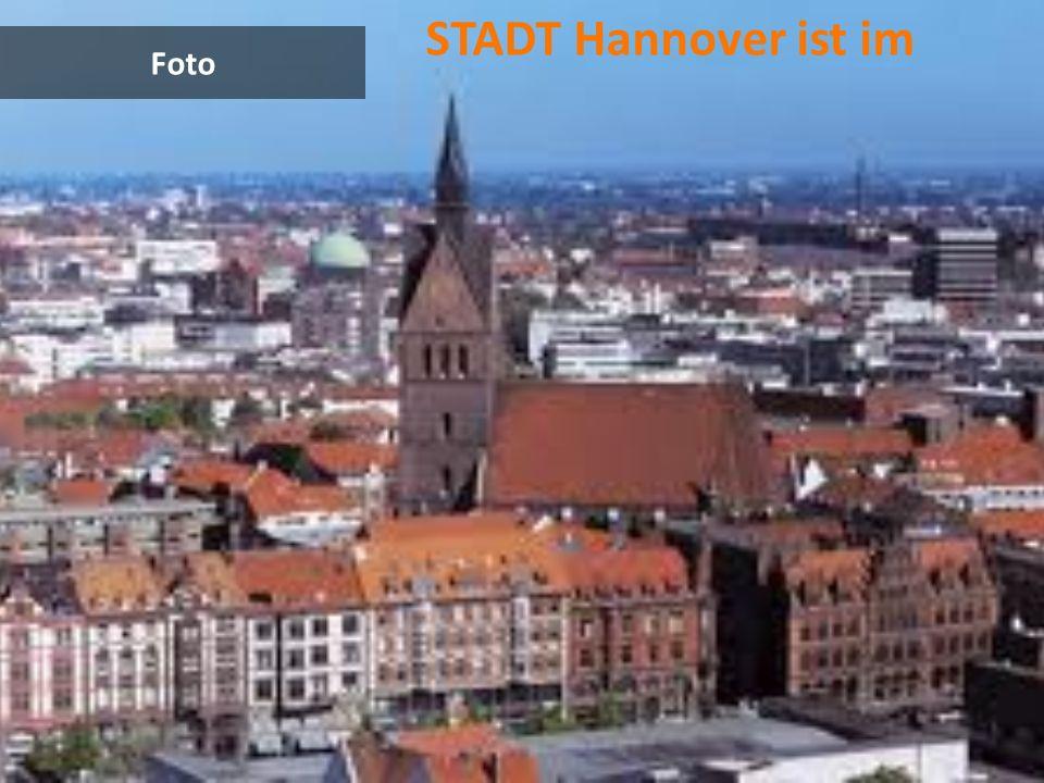 Landkarte Hannover leigt im Norden.