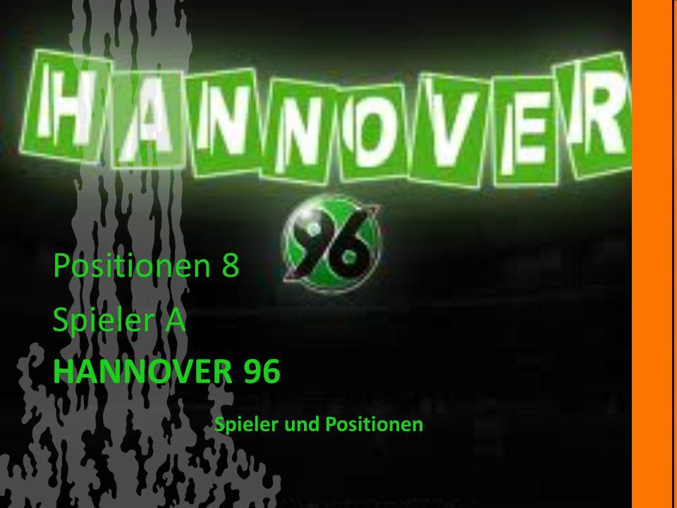 Spieler und Positionen HANNOVER 96 Positionen 8 Spieler A