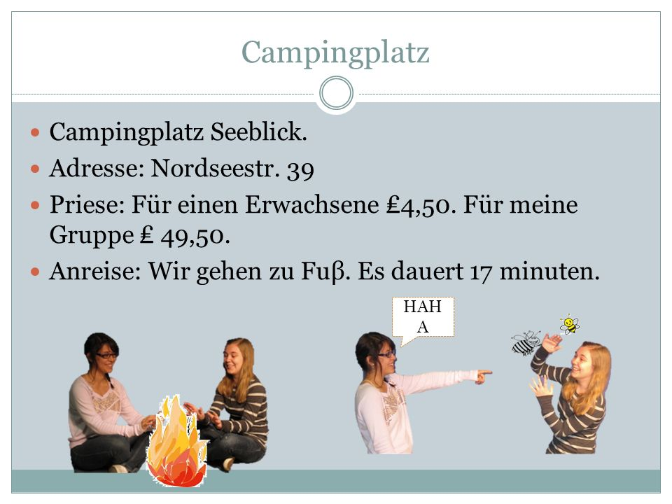 Campingplatz Campingplatz Seeblick.Adresse: Nordseestr.