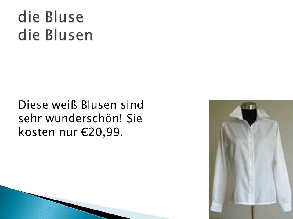 Diese weiß Blusen sind sehr wunderschön! Sie kosten nur 20,99.