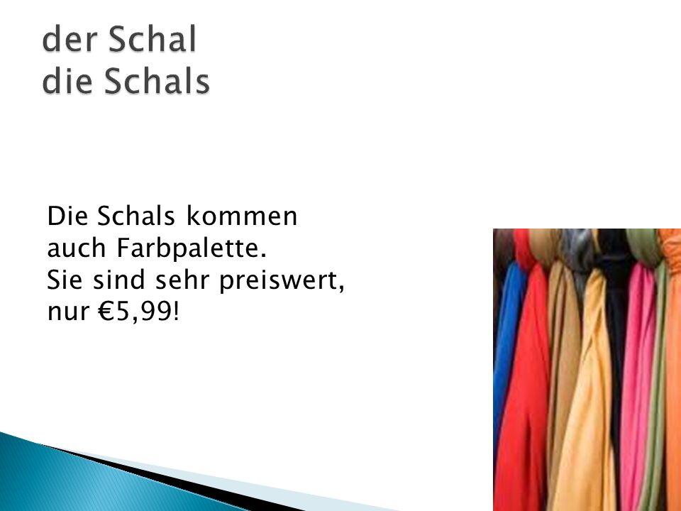 Die Schals kommen auch Farbpalette. Sie sind sehr preiswert, nur 5,99!