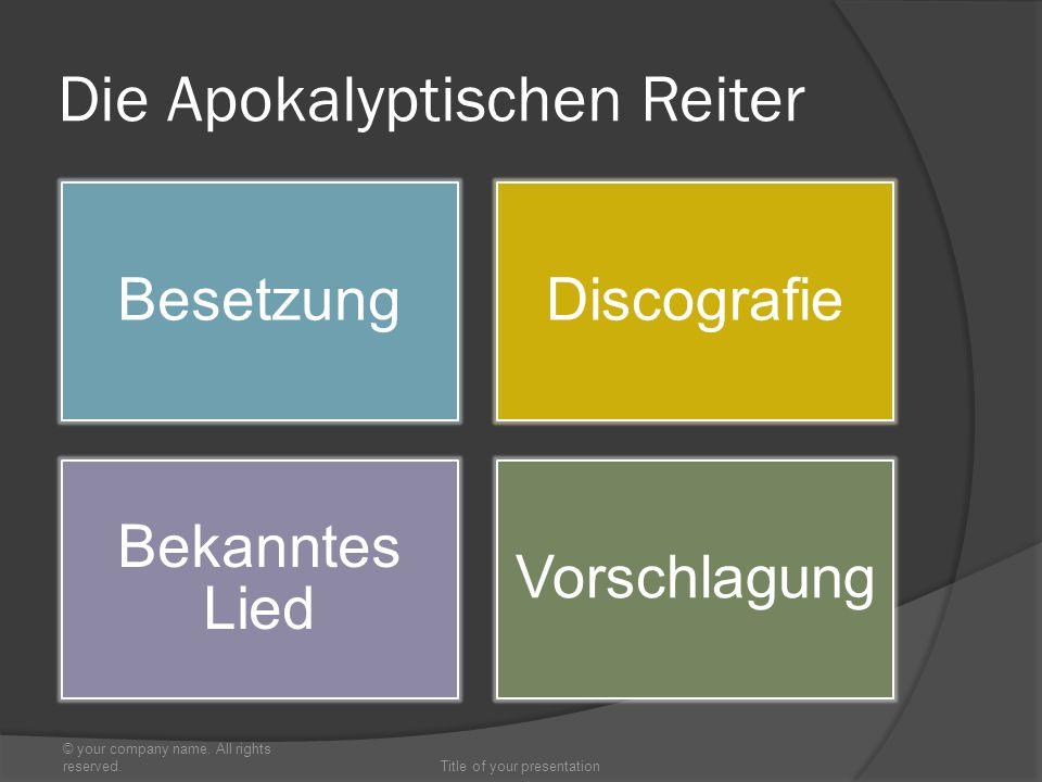 BesetzungDiscografie Bekanntes Lied Vorschlagung © your company name.