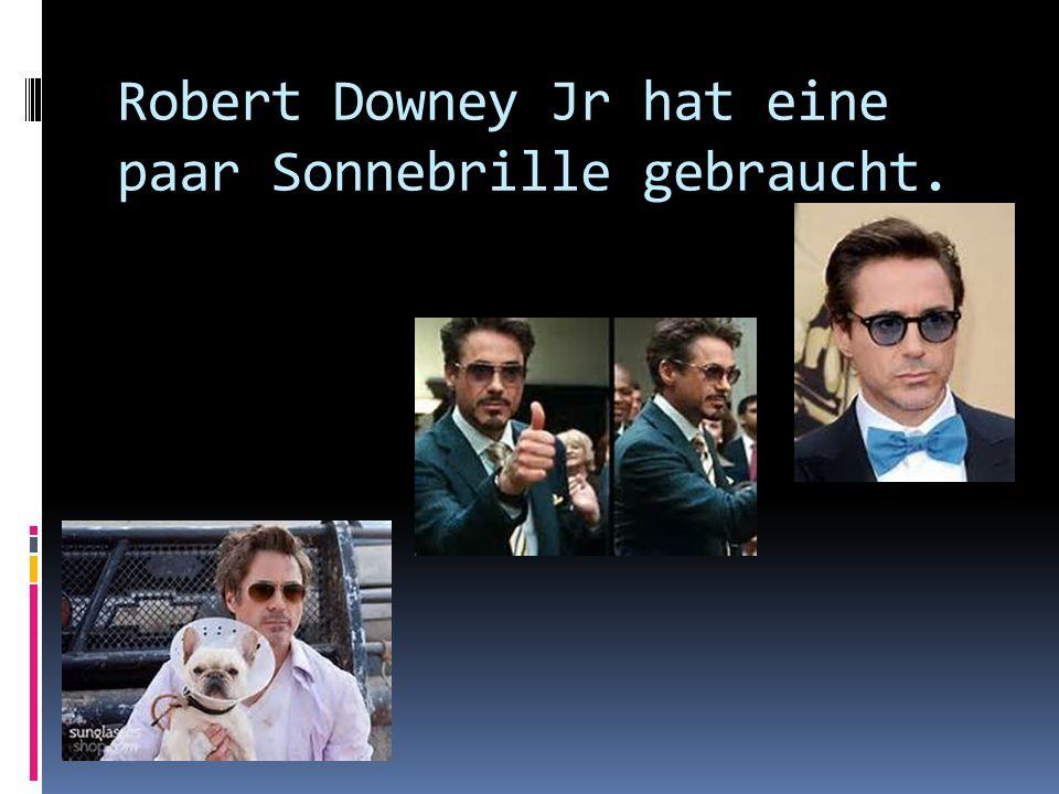 Robert Downey Jr hat eine paar Sonnebrille gebraucht.