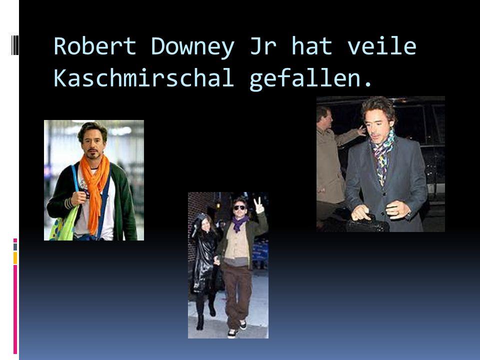 Robert Downey Jr hat veile Kaschmirschal gefallen.
