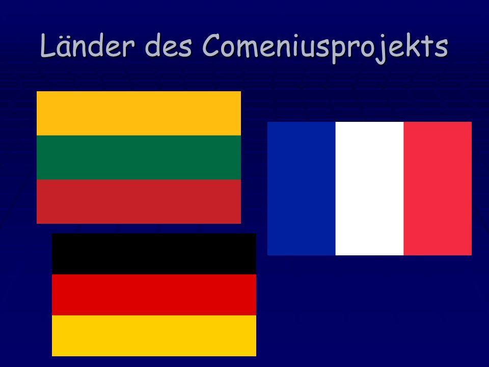 Länder des Comeniusprojekts