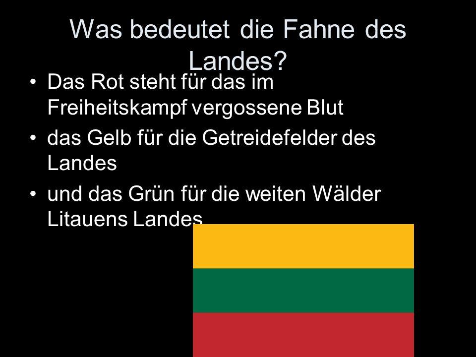 Was bedeutet die Fahne des Landes? Das Rot steht für das im Freiheitskampf vergossene Blut das Gelb für die Getreidefelder des Landes und das Grün für